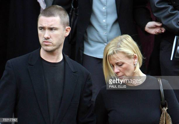 British snooker player Stephen Hendry leaves the funeral of snooker player Paul Hunter at Leeds Parish Church in Leeds England 19 October 2006...