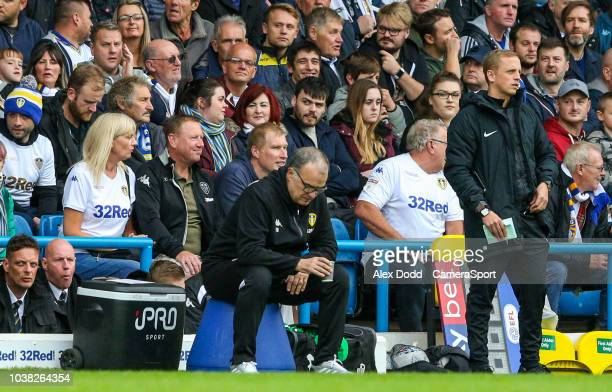Leeds United manager Marcelo Bielsa during the Sky Bet Championship match between Leeds United and Birmingham City at Elland Road on September 22...