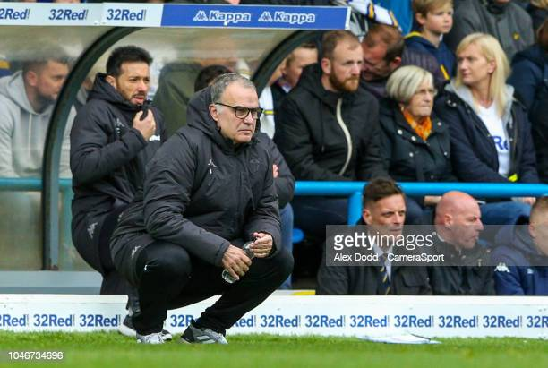 Leeds United manager Marcelo Bielsa during the Sky Bet Championship match between Leeds United and Brentford at Elland Road on October 6 2018 in...