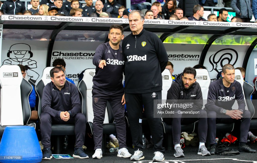 Derby County v Leeds United - Sky Bet Championship Play-off Semi Final: First Leg : ニュース写真