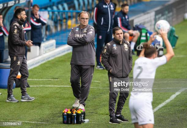 Leeds United manager Marcelo Bielsa watches on during the first half during the Sky Bet Championship match between Leeds United and Stoke City at...