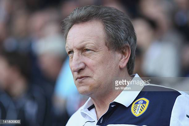Leeds United manager Neil Warnock looks on during the npower Championship match between Millwall and Leeds United at The Den on March 24, 2012 in...
