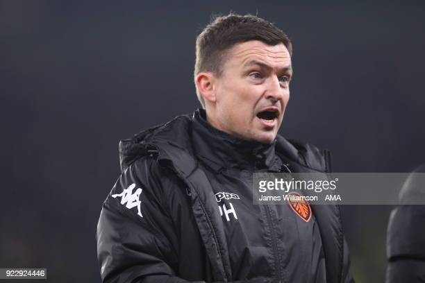 Leeds United manager Paul Heckingbottom during the Sky Bet Championship match between Derby County and Leeds United at iPro Stadium on February 20...