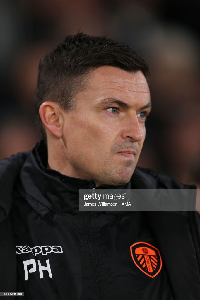 Leeds United manager Paul Heckingbottom during the Sky Bet Championship match between Derby County and Leeds United at iPro Stadium on February 20, 2018 in Derby, England.