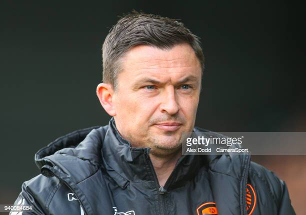 Leeds United manager Paul Heckingbottom during the Sky Bet Championship match between Leeds United and Bolton Wanderers at Elland Road on March 30...