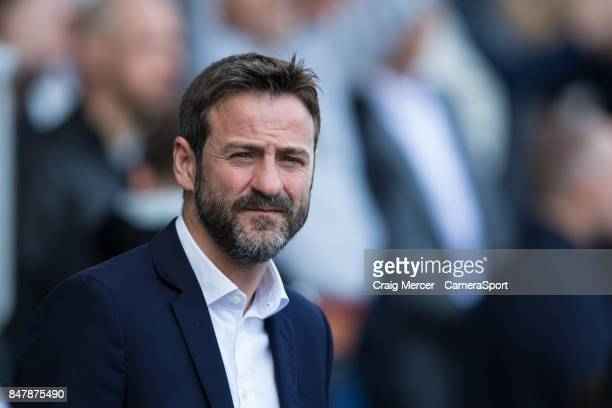 Leeds United manager Thomas Christiansen during the Sky Bet Championship match between Millwall and Leeds United at The Den on September 16 2017 in...