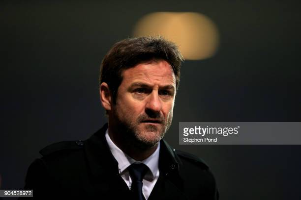 Leeds United manager Thomas Christiansen leaves the field during the Sky Bet Championship match between Ipswich Town and Leeds United at Portman Road...