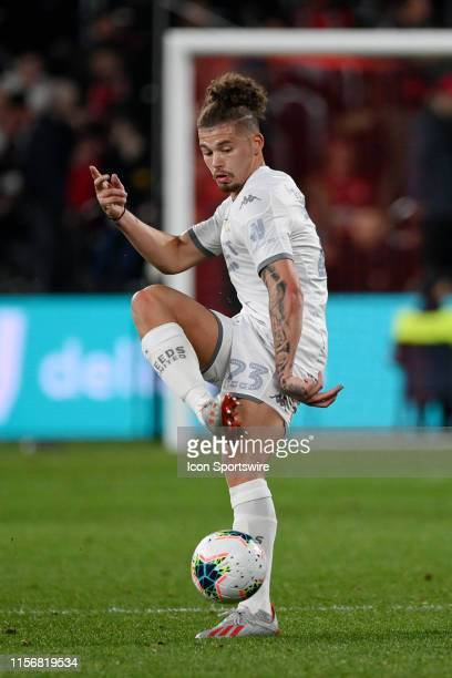 Leeds United midfielder Kalvin Phillips controls the ball during the club friendly football match between Leeds United and Western Sydney Wanderers...