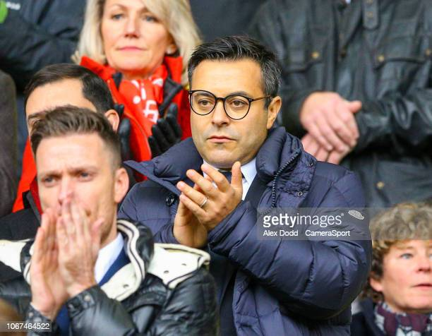 Leeds United owner and chairman Andrea Radrizzani takes his seat during the Sky Bet Championship match between Sheffield United and Leeds United at...
