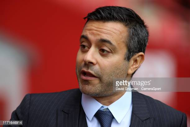Leeds United owner Andrea Radrizzani looks on before kick off during the Sky Bet Championship match between Charlton Athletic and Leeds United at The...