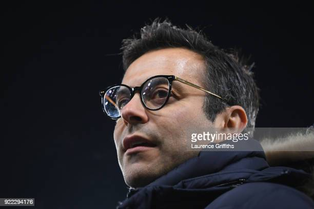 Leeds United owner Andrea Radrizzani looks on before the Sky Bet Championship match between Derby County and Leeds United at iPro Stadium on February...