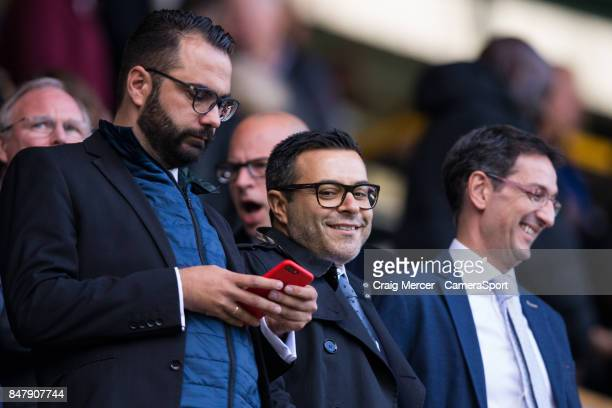 Leeds United owner Andrea Radrizzani looks on during the Sky Bet Championship match between Millwall and Leeds United at The Den on September 16 2017...