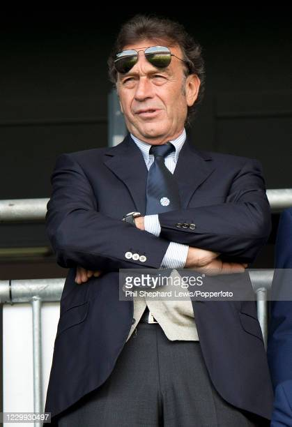 Leeds United owner Massimo Cellino looks on during the Sky Bet Championship match between Milton Keynes Dons and Leeds United at Stadium MK on...
