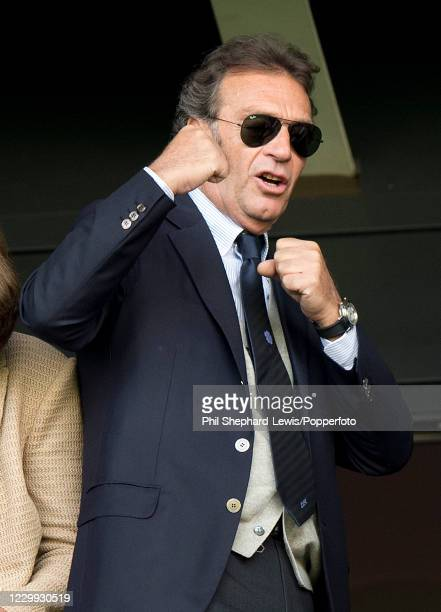 Leeds United owner Massimo Cellino reacts during the Sky Bet Championship match between Milton Keynes Dons and Leeds United at Stadium MK on...