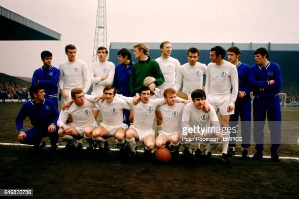 Leeds United Team Group 196869 BACK ROW LR Mick Bates Paul Madeley Norman Hunter David Harvey Gary Sprake Jack Charlton Paul Reaney Mike O'Grady Rod...