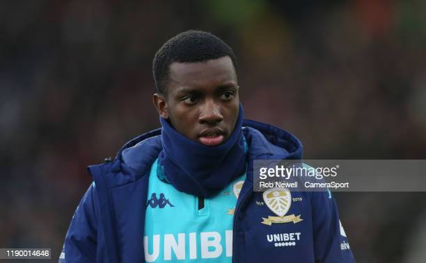 Leeds United's Edward Nketiah during the Sky Bet Championship match between Fulham and Leeds United at Craven Cottage on December 21 2019 in London...
