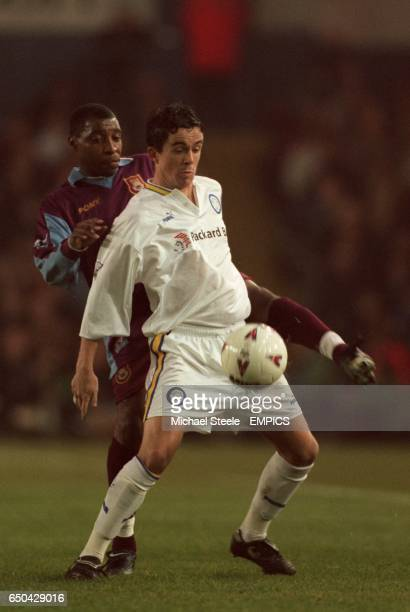 Leeds United's Gary Kelly shields the ball from West Ham United's Andy Impey