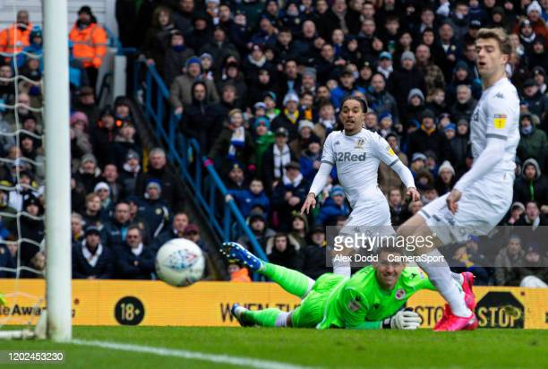 Leeds United's Helder Costa goes close during the Sky Bet Championship match between Leeds United and Reading at Elland Road on February 22 2020 in...