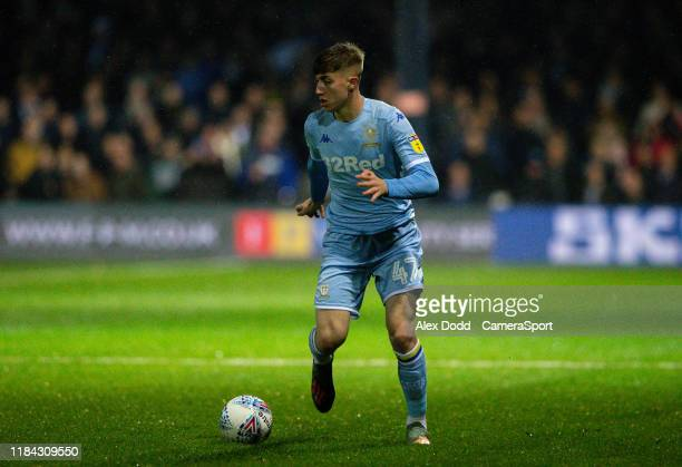 Leeds United's Jack Clarke in action during the Sky Bet Championship match between Luton Town and Leeds United at Kenilworth Road on November 23 2019...