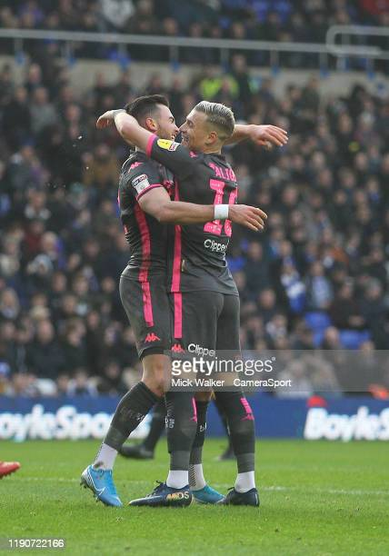 Leeds United's Jack Harrison celebrates scoring his sides second goal during the Sky Bet Championship match between Birmingham City and Leeds United...