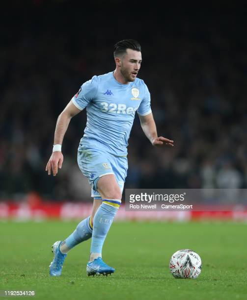 Leeds United's Jack Harrison during the FA Cup Third Round match between Arsenal and Leeds United at Emirates Stadium on January 6 2020 in London...