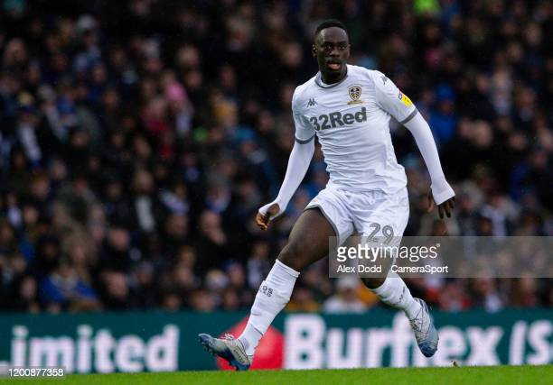 Leeds United's JeanKevin Augustin during the Sky Bet Championship match between Leeds United and Bristol City at Elland Road on February 15 2020 in...