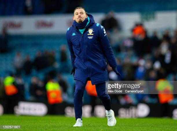 Leeds United's Kalvin Phillips celebrates after the match during the Sky Bet Championship match between Leeds United and Reading at Elland Road on...