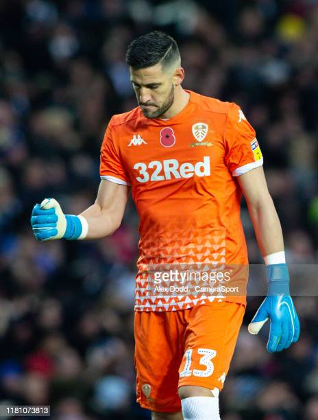 Leeds United's Kiko Casilla celebrates as his side go 10 up during the Sky Bet Championship match between Leeds United and Blackburn Rovers at Elland...