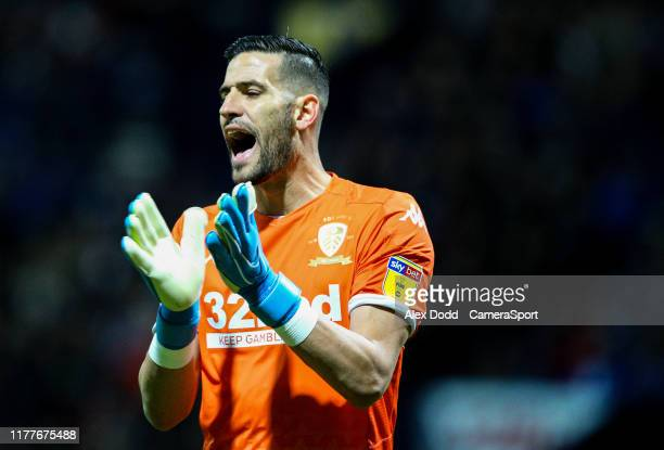 Leeds United's Kiko Casilla during the Sky Bet Championship match between Preston North End and Leeds United at Deepdale on October 22 2019 in...