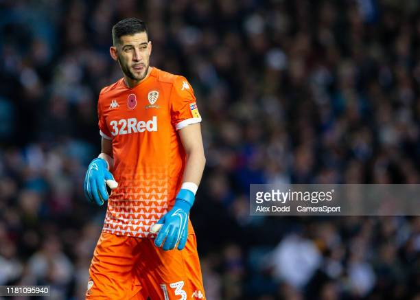Leeds United's Kiko Casilla during the Sky Bet Championship match between Leeds United and Blackburn Rovers at Elland Road on November 9 2019 in...