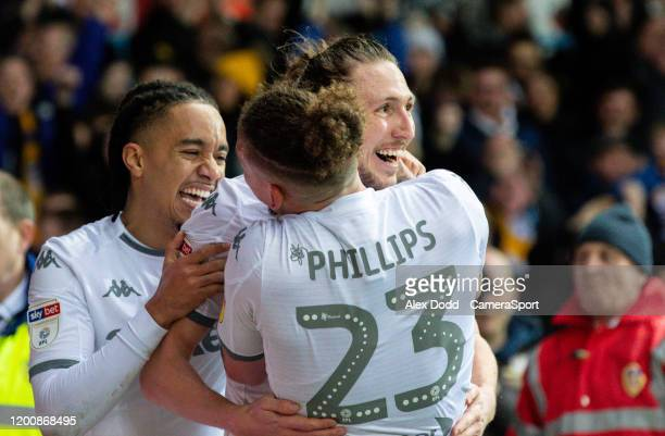 Leeds United's Luke Ayling celebrates scoring the opening goal during the Sky Bet Championship match between Leeds United and Bristol City at Elland...
