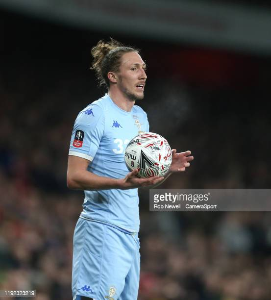 Leeds United's Luke Ayling during the FA Cup Third Round match between Arsenal and Leeds United at Emirates Stadium on January 6 2020 in London...