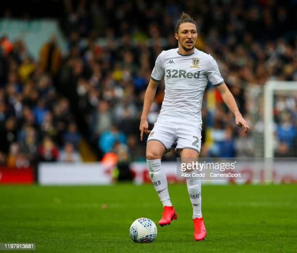 Leeds United's Luke Ayling during the Sky Bet Championship match between Leeds United and Wigan Athletic at Elland Road on February 1 2020 in Leeds...