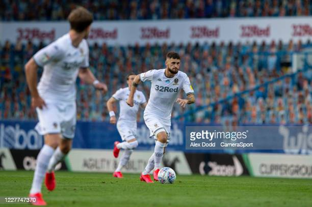 Leeds United's Mateusz Klich in action during the Sky Bet Championship match between Leeds United and Charlton Athletic at Elland Road on July 22...