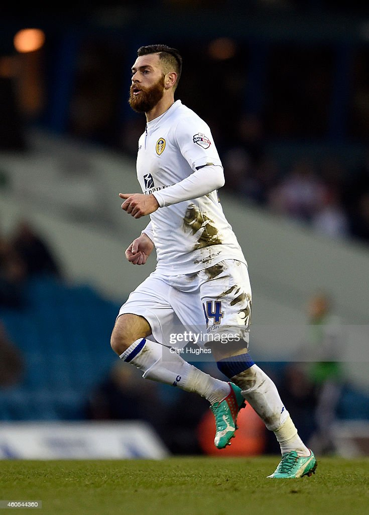 Leeds United's Mirco Antenucci in action during the Sky Bet Championship match between Leeds United and Fulham at Elland Road on December 13, 2014 in Leeds, England.