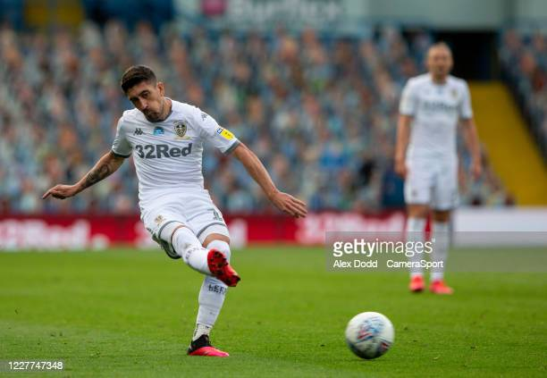 Leeds United's Pablo Hernandez in action during the Sky Bet Championship match between Leeds United and Charlton Athletic at Elland Road on July 22...