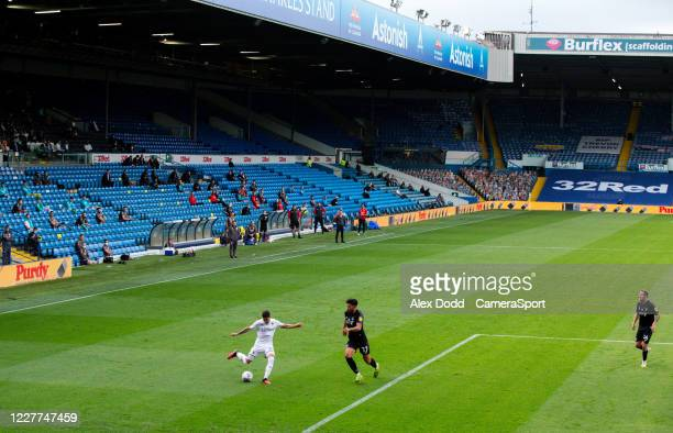 Leeds United's Pablo Hernandez takes on Charlton Athletic's Macauley Bonne during the Sky Bet Championship match between Leeds United and Charlton...