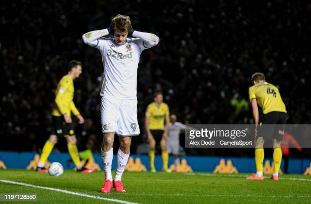 Leeds United's Patrick Bamford celebrates scoring his side's third goal during the Sky Bet Championship match between Leeds United and Millwall at...