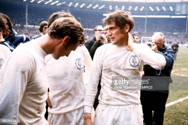 Leeds United's Paul Madeley and Norman Hunter after the match ended in a 22 draw