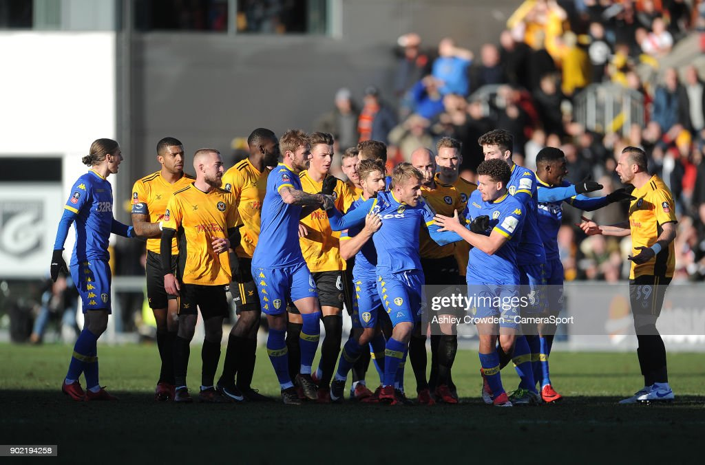 Newport County v Leeds United - The Emirates FA Cup Third Round : News Photo
