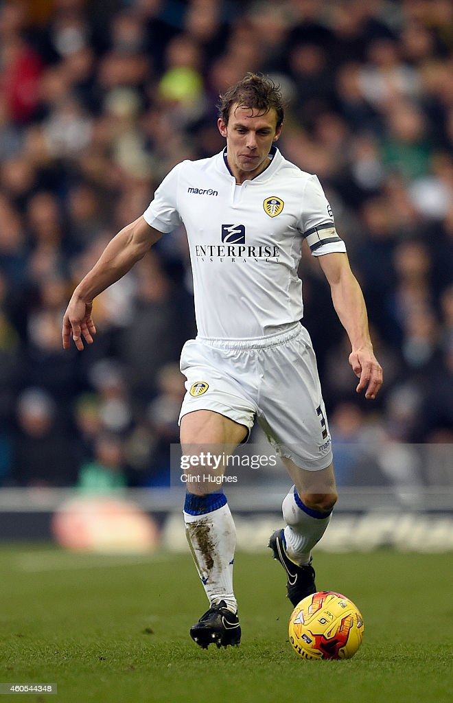 Leeds United's Stephen Warnock in action during the Sky Bet Championship match between Leeds United and Fulham at Elland Road on December 13, 2014 in Leeds, England.