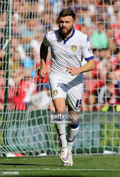 Leeds United's Stuart Dallasi in action during the Sky Bet Championship match between Middlesbrough and Leeds United at the Riverside on September 27...