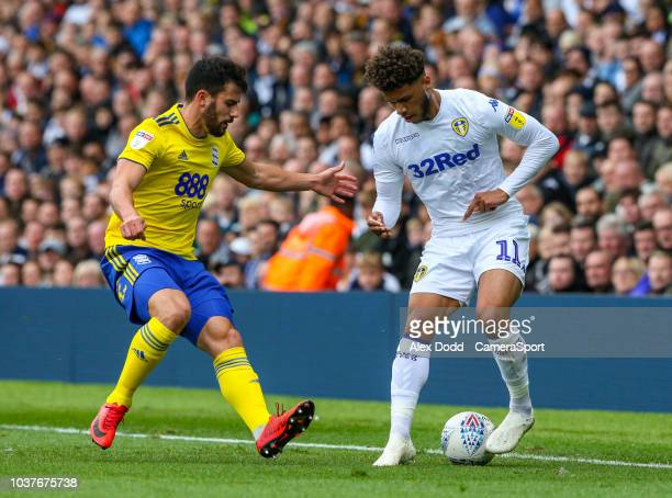 Tyler Roberts of Leeds United sits dejected following the Sky Bet Championship match between Leeds United and Birmingham City at Elland Road on...