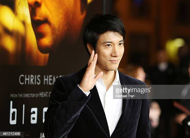 Leehom Wang arrives at the Los Angeles premiere of 'Blackhat' held at TCL Chinese Theatre IMAX on January 8 2015 in Hollywood California