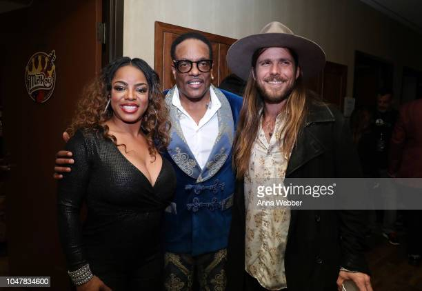 Leela James Charlie Wilson and Lukas Nelson attend An Opry Salute to Ray Charles at The Grand Ole Opry on October 8 2018 in Nashville Tennessee