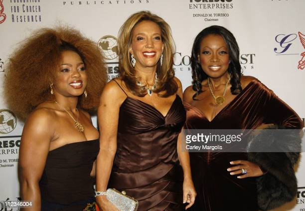 Leela James Denise Rich and Star Jones Reynolds during The GP Foundation for Cancer Research 4th Annual Angel Ball at Marriott Marquis in New York...