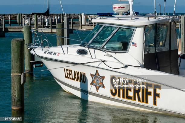 leelanau sheriff, leland, michigan - leelanau county  michigan stock pictures, royalty-free photos & images