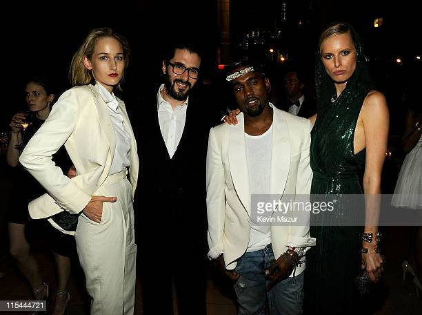 Leelee Sobieski Adam Kimmel Kanye West and Karolina Kurkova attend a supper following the 2011 CFDA Fashion Awards at Alice Tully Hall Lincoln Center...