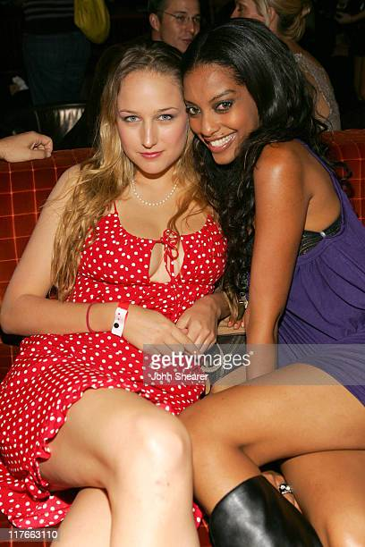 Leelee Sobieski and Azie Tesfai during Rolling Stone Magazine Celebrates their 2006 Annual Hot List Inside at Stone Rose in Los Angeles California...