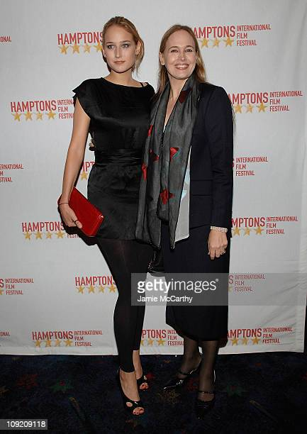Leelee Sobieski and Elizabeth Sobieski arrive at the Hamptons Film Festival Screening The Elder Son Red Carpet at the United Artists Theater in East...